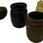 Bay Ruff pots made from local clay