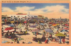 Beach Scene at Seaside Heights, NJ