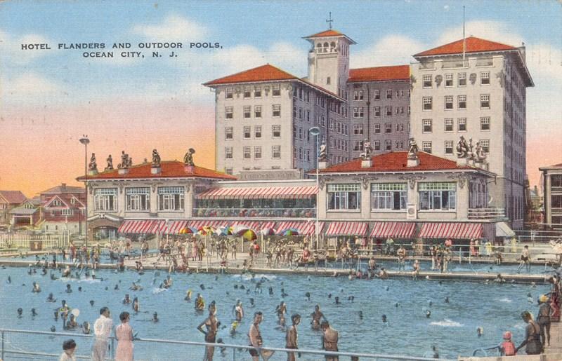 Hotel Flanders And Outdoor Pools Ocean City Nj 1938 800 515