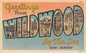 Large Letter Greetings from Wildwood-by-the-Sea