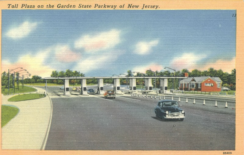 Toll plaza on the garden state parkway of nj 800 508 historical society of riverton nj for Directions to garden state parkway south