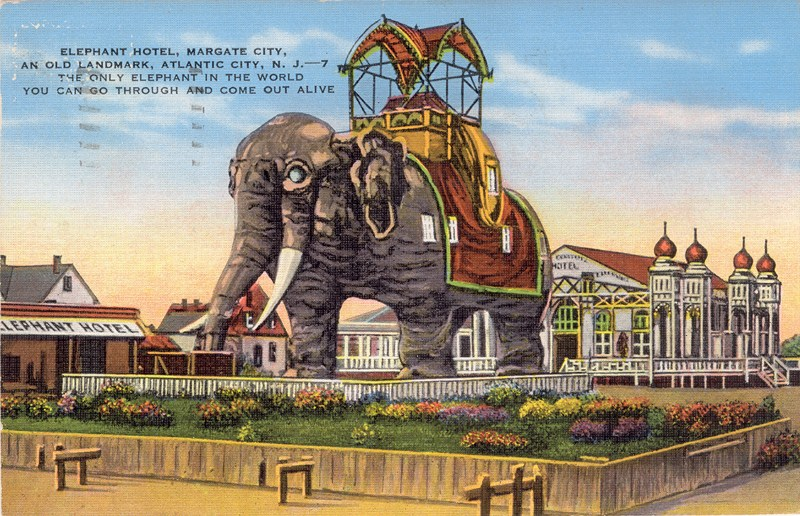 Elephant Hotel Margate City An Old Landmark Atlantic Nj 1937 800 516
