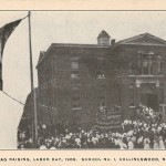 Flag Raising, Labor Day, 1906. School No. 1, Collingswood, NJ