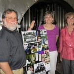 L. to R. HSR President, Gerald Weaber, Ms. Donna Kirkland, Ms. Marilyn Hahle