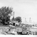 010_1927 Evans Lumber - Dreer's smokestacks in rear - J.F. Yearly photo