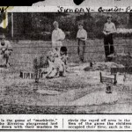 1930, Aug. 3, Courier Post, Jos. L. competing in marbles tournament at Riverton Park