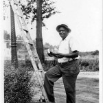 1938 July, Lee Hill took care of Riverton's streetlamps
