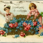 Happy Birthday 1907 - embossed card with gold ink