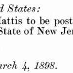 PRES. WM. MCKINLEY  NOMINATES O.H. MATTIS  Journal of the proceedings of the Senate of the United States in executive session. (Fifty-fifth Congress, second session, commencing Monday, December 6, 1897)