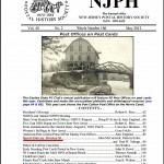 Front page of the May 2012 NJPHS Journal - the HSR is in good company here. Jean Walton put a good face on our work with her superb layout.