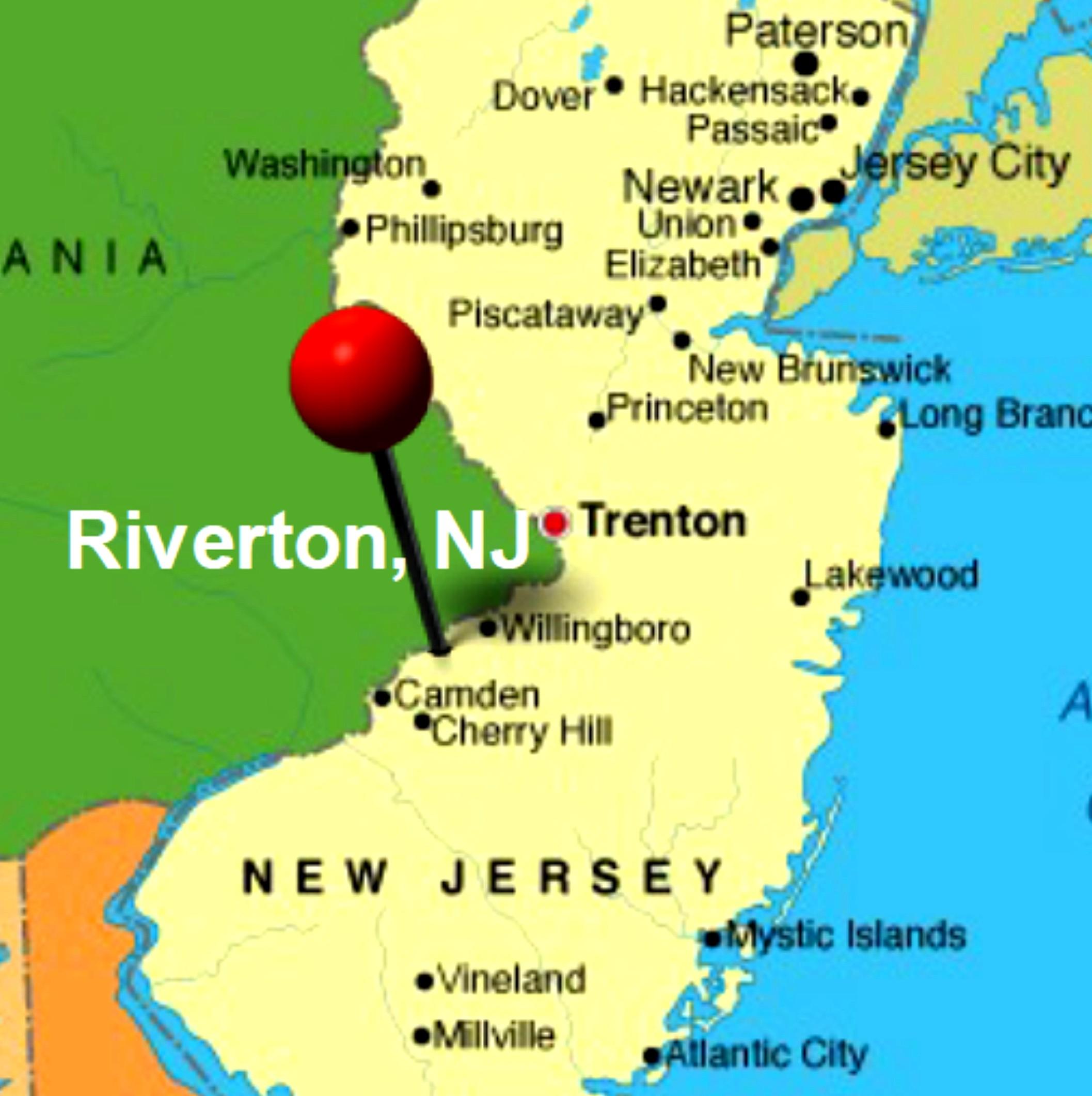 Riverton NJ Map Historical Society Of Riverton NJ - Njmap