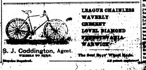 Coddington bicycle ad, New Era, July 21, 1894