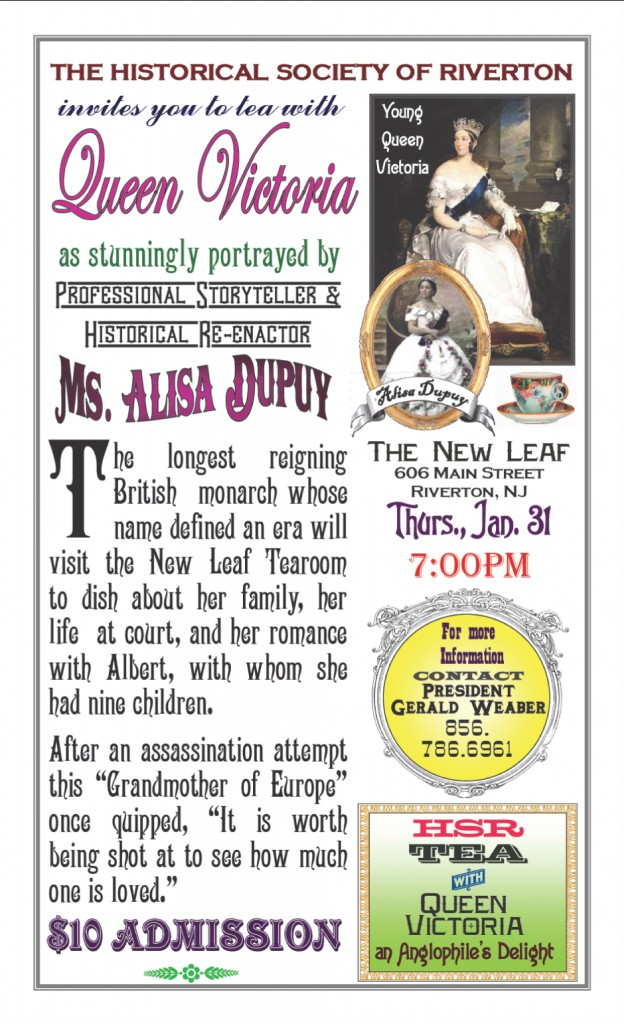Queen Victoria publicity poster January 31, 2013