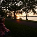Mrs. Elsie Waters watches the sunset. She will be the Parade Marshal for the 2013 July Fourth Children's Parade.