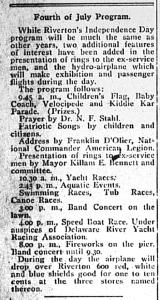 July 4, 1920 program details, New Era 7-2-1920, pg2