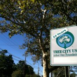 Tree City sign on Broad near Nat'l Casein