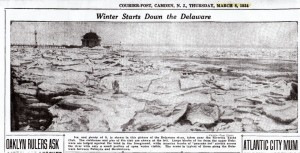 March 8, 1934 Courier Post ice-bound RYC