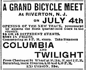 Grand Bicycle Meet, 1894-07-04, Philadelphia Inquirer, pg. 8