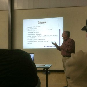 Jay Howard presents his findings to a well-attended meeting