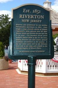 Riverton historical marker, Broad & Main