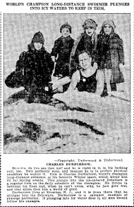 Charles Durborow, Distance Swimmer Plunges Into Icy Waters To Keep In Trim Date 1918-02-17 Oregonian