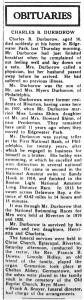 Durborow obit, New Era, May 19, 1938, p2