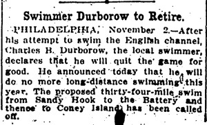 Durborow to retire, November 2, 1912, Evening Star, p10