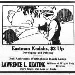 Keating Kodak ad, New Era, August 14, 1924