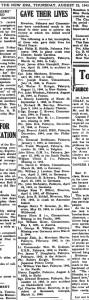 clipping New Era, Aug 23, 1945
