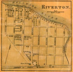 Riverton, NJ map 1859