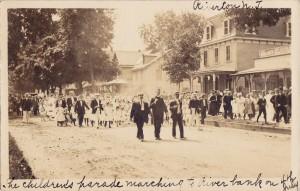 Children's Parade, vintage postcard scan courtesy of Nick Mortgu