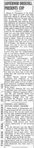 Governor Driscoll presents cup, New Era, July 7, 1949, p.1.