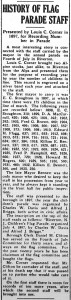 History of flag parade staff, New Era, June 28, 1934, p.1