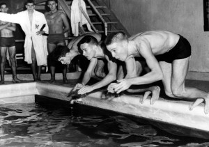 MCH 3 members of the 1960 Moorestown High School Boys' Swim Team