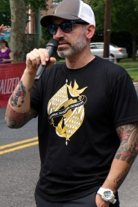 Carlos rocks a HRCriterium t-shirt at the 2015 race