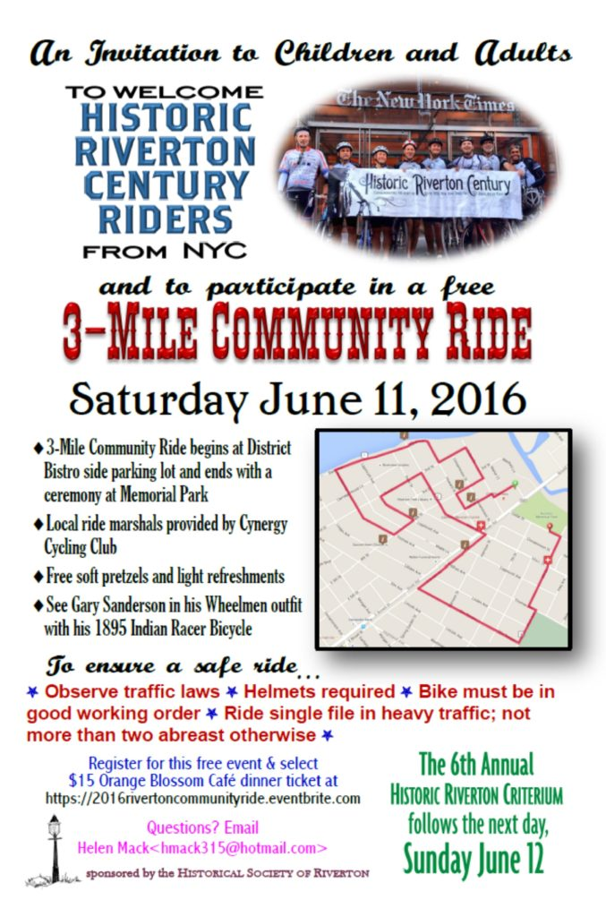 2016 3 mile community ride school flyer