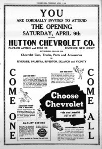 Hutton Chevrolet, New Era, April 7, 1949, p9