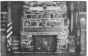 Memorial Dining Hall, Camp Lenape, postmark 1954
