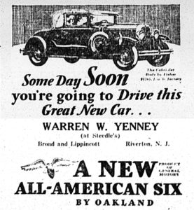 Oakland car ad, New Era, Jan 24, 1929