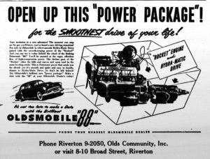 Olds ad, New Era, Nov 24, 1949, pg3