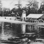Ye Olde Swimming Hole, Camp Lenape, Medford, NJ postmarked 1954