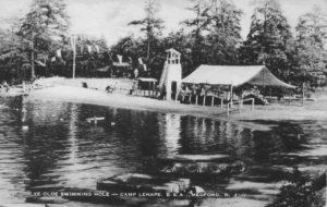 Ye Olde Swimming Hole, Camp Lenape, Medford, NJ c.1954