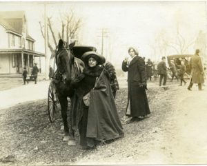 Gen. Rosalie Jones and gospel wagon Miss Alice Freeman in background, Steel Family Album