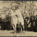 Inez Milholland Boissevain preparing to lead the March 3, 1913