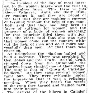 excerpt: Mob buffets hikers now in Philadelphia, New York Times, Feb. 17, 1913